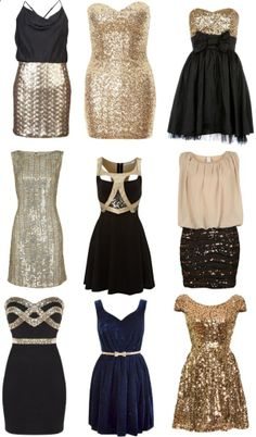 Dont know what to wear for a holiday party or NYE? What about one of these cute dresses?