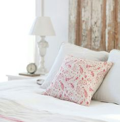 washed raspberry pink paisley linen on a chalky white colour palette