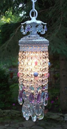 Berengia: Vintage Jeweled Lavender Skies Chandelier