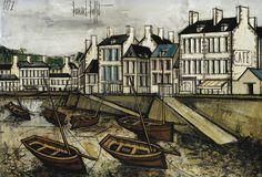 Bernard Buffet - Conquet, le Port, les Quais [1972]
