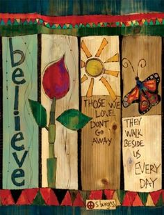 Durable garden poles are innovative reproductions of original hand painted artwork. Simple messages with vivid color are displayed for a unique garden accent. Set garden poles near a pathway, by the f Peace Pole, Garden Poles, Garden Stakes, Pole Art, Arte Country, Fence Art, Hand Painting Art, Fence Painting, Diy Garden Projects