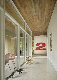 Lakewood Mid-Century Remodel Hallway, DeForest Architects   Remodelista Architect / Designer Directory