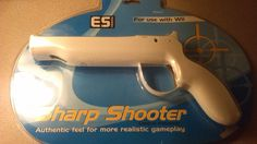 ES Interactive ES6234 NIB Sharp Shooter I Trigger for Wii Control Enhancer #Nintendo