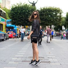 Anouska Proetta Brandon - Zara Top, Proenza Schouler Bag, Nikes, Céline Sunglasses - O Connell Street