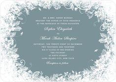 Enchanted Vines plants Circle Wedding Invitations HPI055