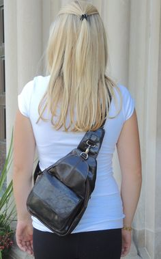 Unisex Rugged Leather Satchel - handbag alternative- can be worn in front or in…