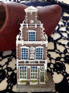 Vintage Miniature Houses, Dutch Gable House, Amsterdam Canal House Souvenir. I have a whole collection
