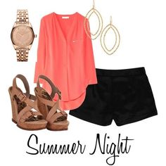 Summer Night Outfit | LUUUX White shorts instead would look better!