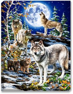 The Spirit of the Pack 18x24 Light up Print