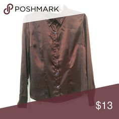 Shimmery Dress Blouse Silky button down blouse. Sleeves can be rolled & buttoned. Ask me to bundle! Jaclyn Smith Tops Button Down Shirts