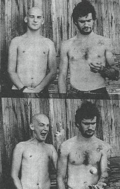 Ian MacKaye of Minor Threat and later Fugazi with Henry Rollins of Black Flag. ca. 1983. Photographer unknown.