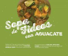 BG Holiday 2014, sopa de fideos con aguacate, chicken noodle soup, Cuban recipes, Cuban soup, avocado, cooking, design, Brunet-Garcia Advertising