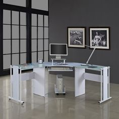 Home & Haus Computer Desk with Keyboard Tray & Reviews   Wayfair UK