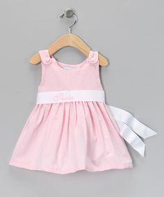 Pink Gingham Personalized Sash Dress - Infant, Toddler & Girls