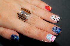 ⁂ 4th Of July // Nailstorming by diamant sur l'ongle