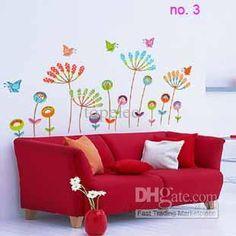 eMS-vários tamanhos e padrões de adesivos de parede removível casa de adesivos de parede arte mural adesivo de
