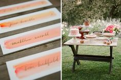 these placecards. watercolor love.