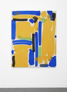 Matt Connors, No Input (yellow, blue, green), 2013 Acrylic on canvas. via jesuisperdu