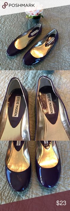 🌺 Steve Madden Purple Flats 🌺 This is a fun pair of purple shiny flats . All reasonable offers considered. 🌺 Steve Madden Shoes Flats & Loafers
