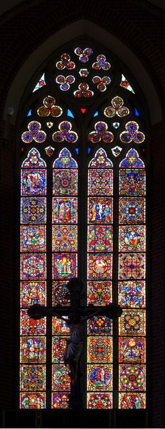 Stained glass window, Church of St. John the Baptist and St. John the Evangelist in Toruń, Poland