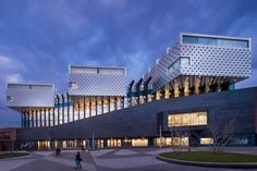 Idea Cultural Centre Eemhuis by Neutelings Riedijk Architects in Amersfoort, Netherlands Architecture Today, Architecture Panel, Architecture Wallpaper, Amazing Architecture, Contemporary Architecture, Architecture Details, Library Architecture, Famous Architects, Cultural Center