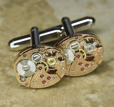 Benrus watch movement cufflinks