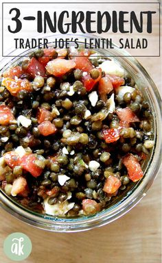 Strawberry salad with basil - Clean Eating Snacks Trader Joes Lentil Recipe, Lentil Dip Recipe, Trader Joes Salad, Trader Joes Food, Lentil Recipes, Vegetarian Recipes, Cooking Recipes, Healthy Recipes, Appetizer Recipes
