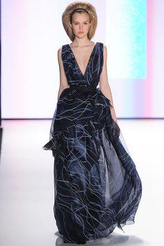 Carolina Herrera - Navy chiffon dress