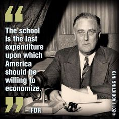 FDR- Wake up, Congress! Support America's Future! Support Education!