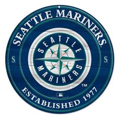 SEATTLE MARINERS OFFICIAL 20X20 MLB WOOD SIGN