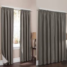 Wraparound Sierra Room Darkening Noise Reducing 2-Pack Window Curtain Panels