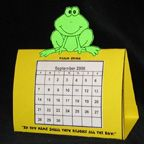 Frog Calendar New Years Craft from www.daniellesplace.com