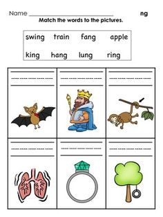 CVCC Ending Blends Activities for NG and NK | word families ...