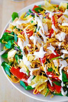 Chicken taco salad recipe by JuliasAlbum.com