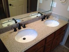 Shop Allen + Roth Desert Gold Granite Undermount Double Sink Bathroom Vanity  Top (Common: