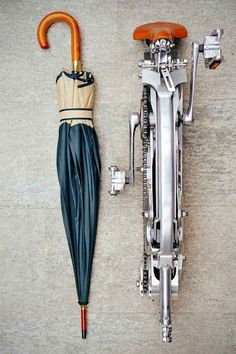 A Standard-Sized Bicycle That Folds Down To The Size Of An Umbrella