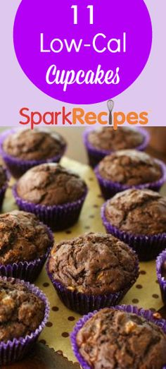 Cupcakes aren't always bad for you! We collected 11 of our favorite, low-cal cupcake recipes - go on and give them a try!  #cupcake #lowcal #snacks