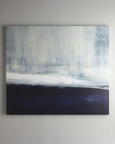 Indigo. 'Driven' Abstract Art - Neiman Marcus - navy blue and white abstract art