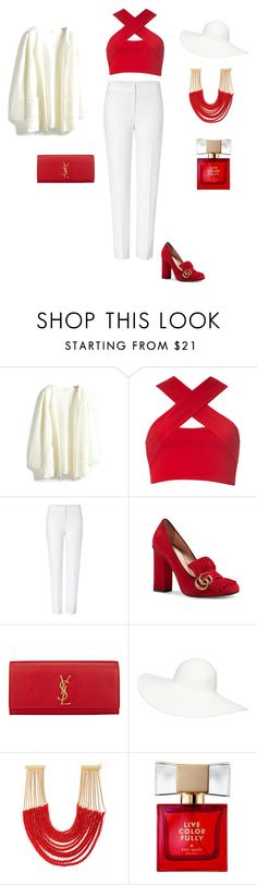 """""""RED"""" by youlissa on Polyvore featuring мода, Motel, ESCADA, Gucci, Yves Saint Laurent, David Jones, Rosantica и Kate Spade"""
