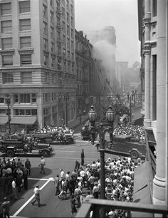 The Bradbury Building Fire, Los Angeles, 1947