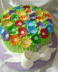 Daisy cake - so cool!