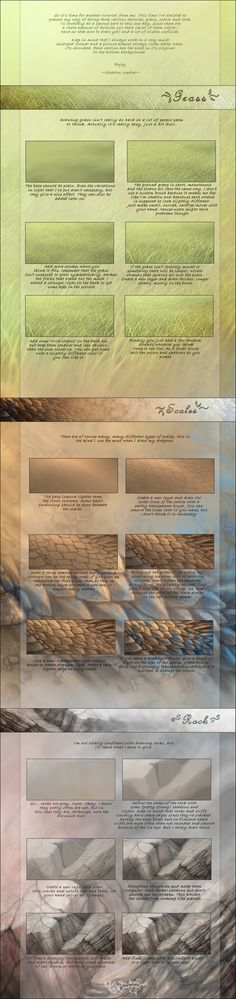 Various textures tutorial by MinnaSundberg on DeviantArt