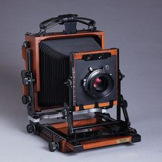 "New Shen-Hao HZX45-IIA 4X5"" Large Format Camera Black Walnut Wood Field Folding…"