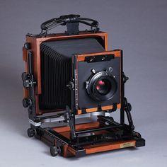 """New Shen-Hao HZX45-IIA 4X5"""" Large Format Camera Black Walnut Wood Field Folding…"""