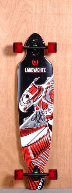 """Landyachtz 40"""" Battle Axe Longboard Complete"""