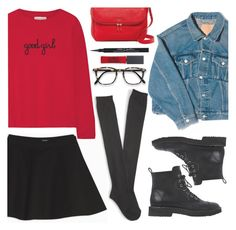 30/11/2016 by anamarija00 on Polyvore featuring polyvore fashion style Chinti and Parker Balenciaga Max&Co. Aéropostale Giuseppe Zanotti FOSSIL Maybelline Givenchy clothing black red Givenchy Clothing, Maybelline, Blue Jeans, Polyvore Fashion, Cool Girl, Personal Style, My Style, Giuseppe Zanotti, How To Wear