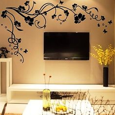 Loving this!!! DIY Wall Stickers Flower Tree Branches Washable Wall Decals – USD $ 19.99