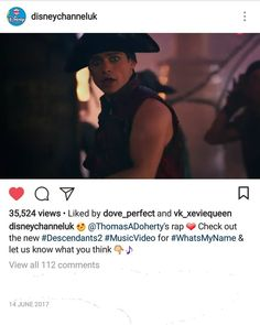 "49 To se mi líbí, 1 komentářů – @sweetie.thomas (@sweetie.thomas) na Instagramu: "" @ThomasADoherty's rap ❤ Check out the new #Descendants2 #MusicVideo for #WhatsMyName & let ME…"""