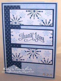 A Snowy Thank You card idea, paper crafts, christma, banner