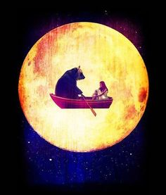 moon and bear on the boat